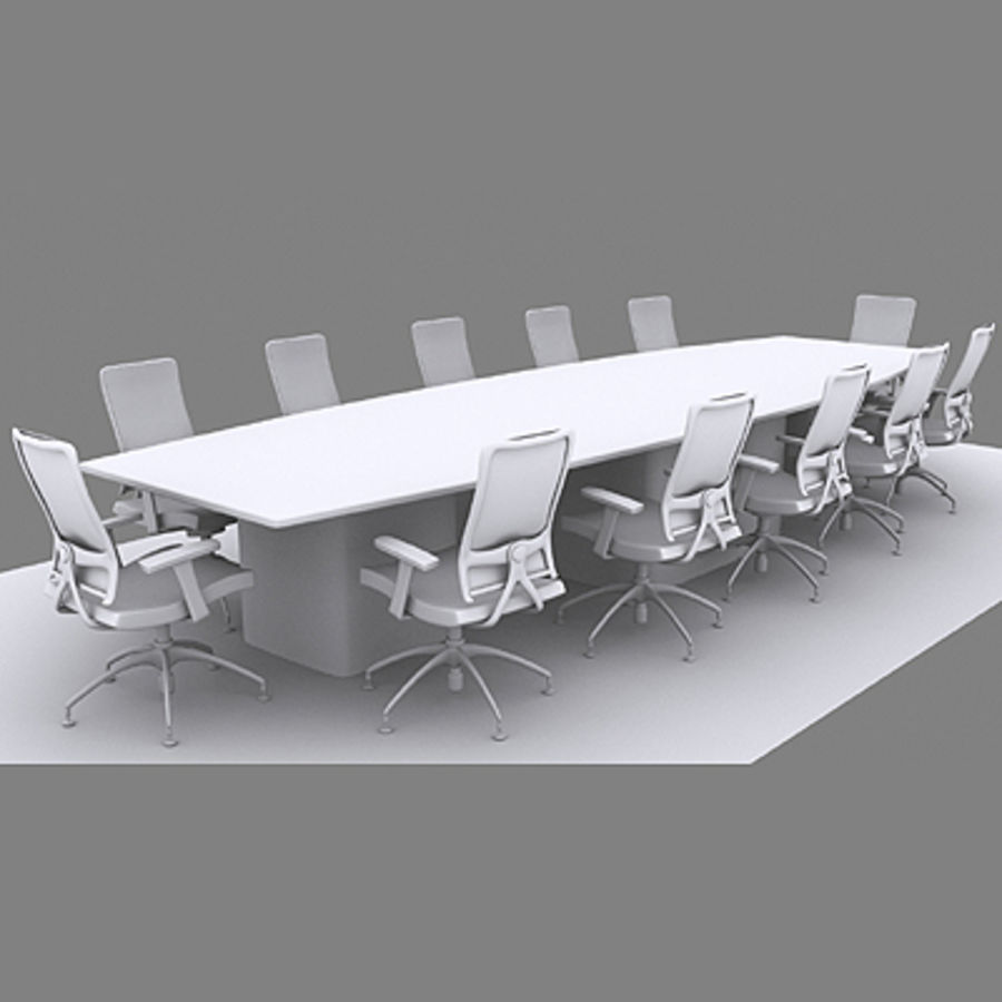 Kontorsstolar och skrivbord royalty-free 3d model - Preview no. 6