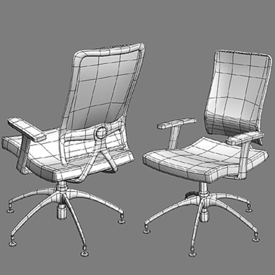Bureaustoelen & bureau royalty-free 3d model - Preview no. 3