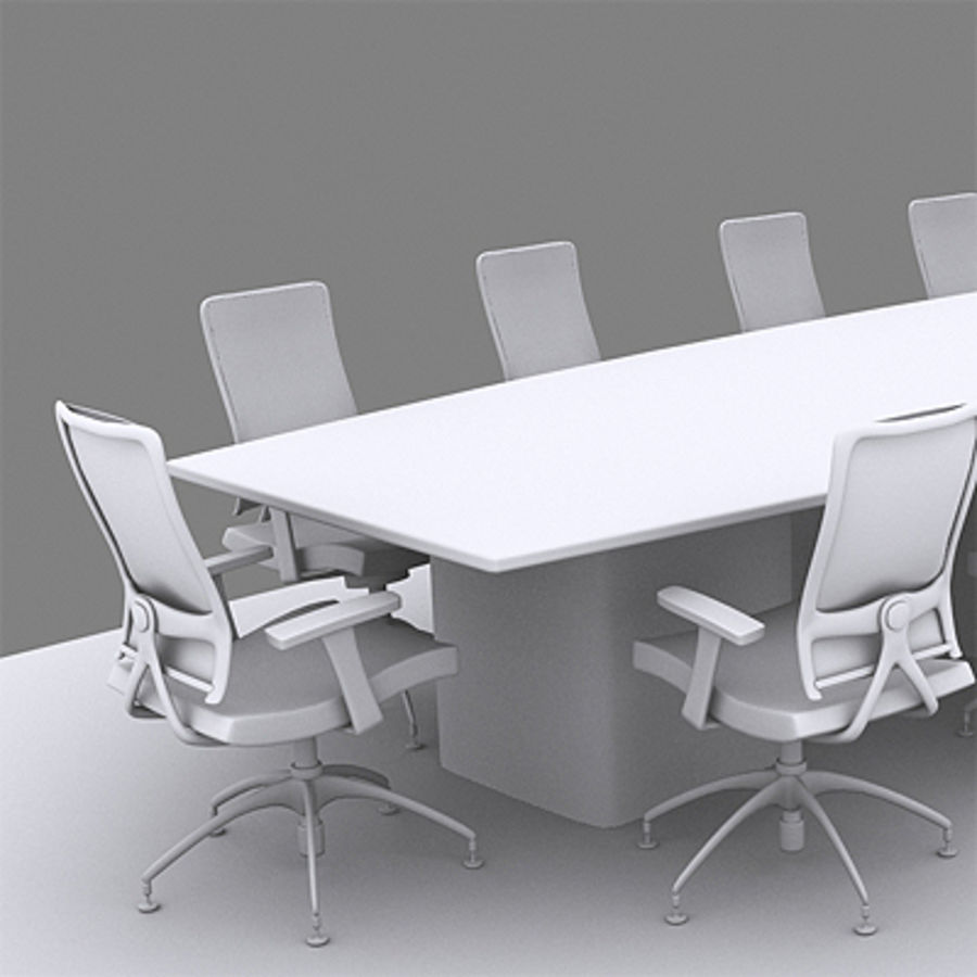 Bureaustoelen & bureau royalty-free 3d model - Preview no. 7