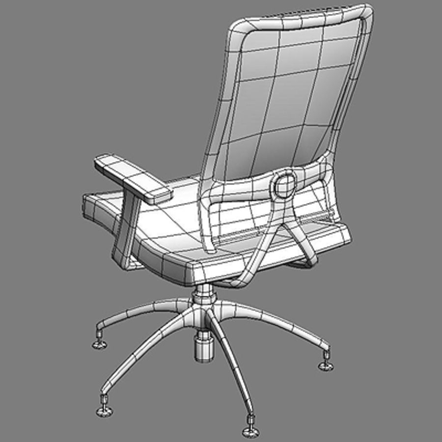 Bureaustoelen & bureau royalty-free 3d model - Preview no. 4