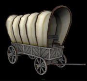 wagon couvert 3d model
