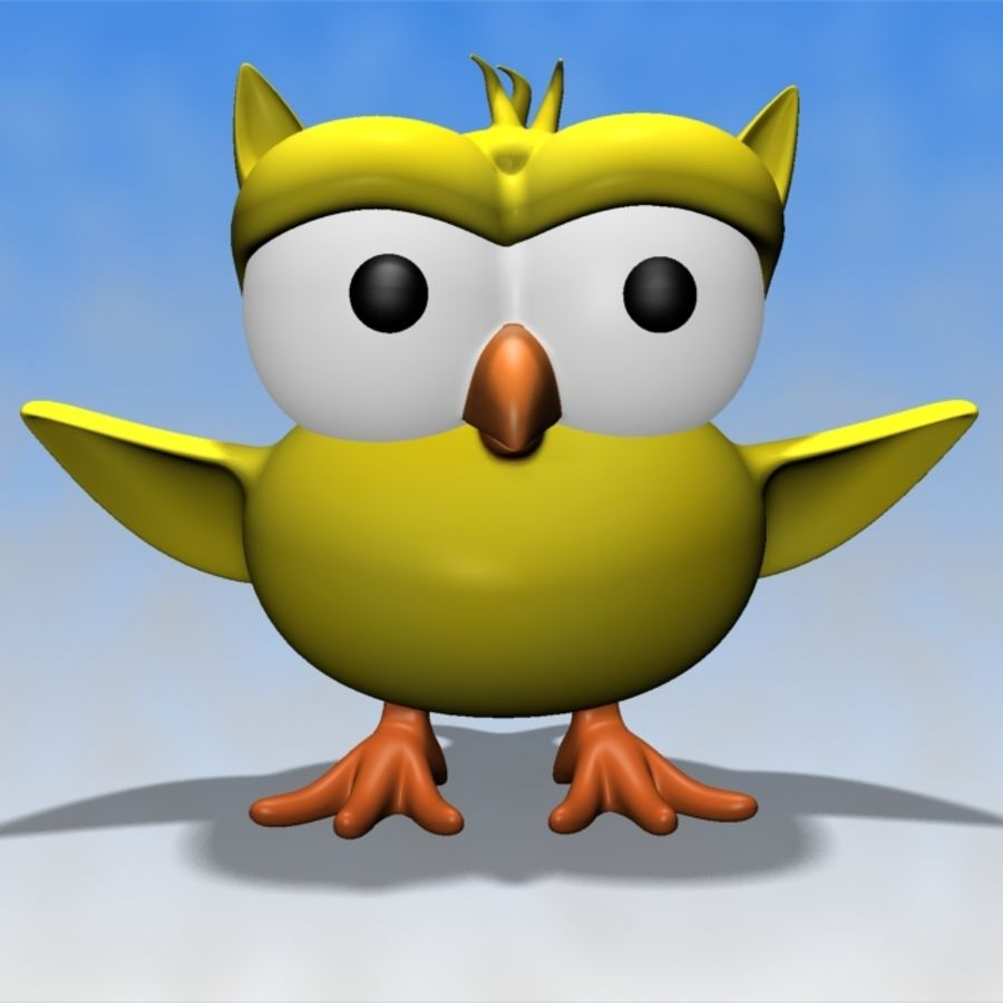 Ursula The Owl royalty-free 3d model - Preview no. 2
