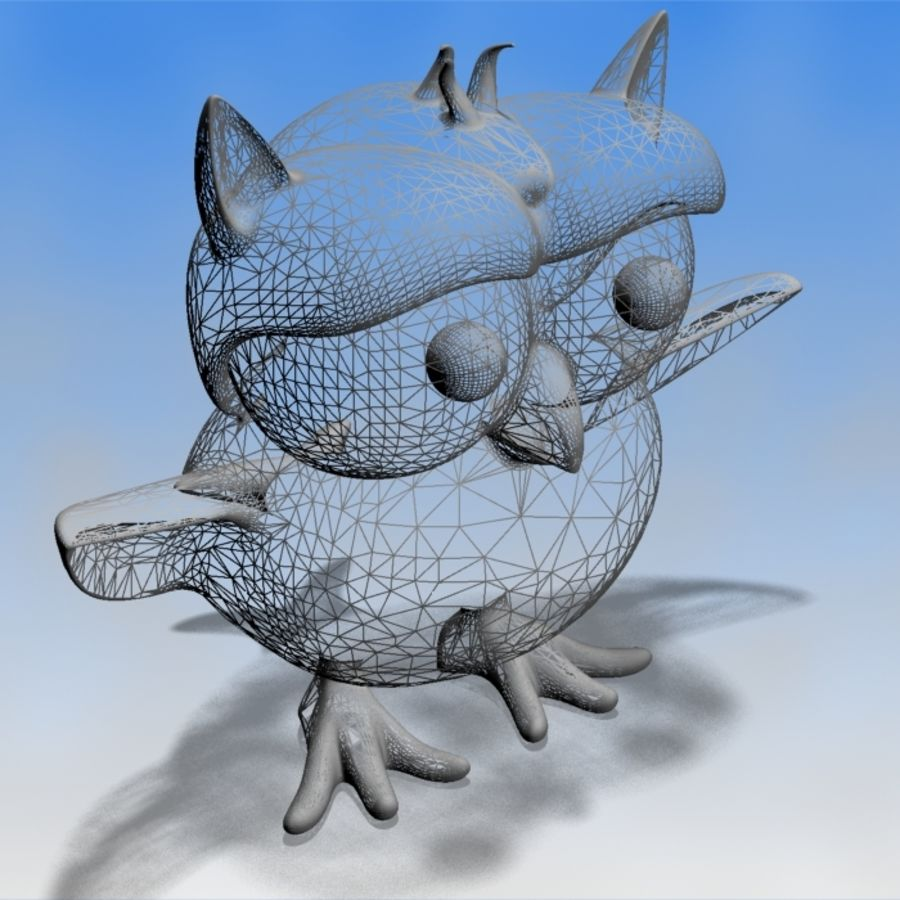 Ursula The Owl royalty-free 3d model - Preview no. 9