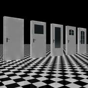 Basic Door Set 3d model