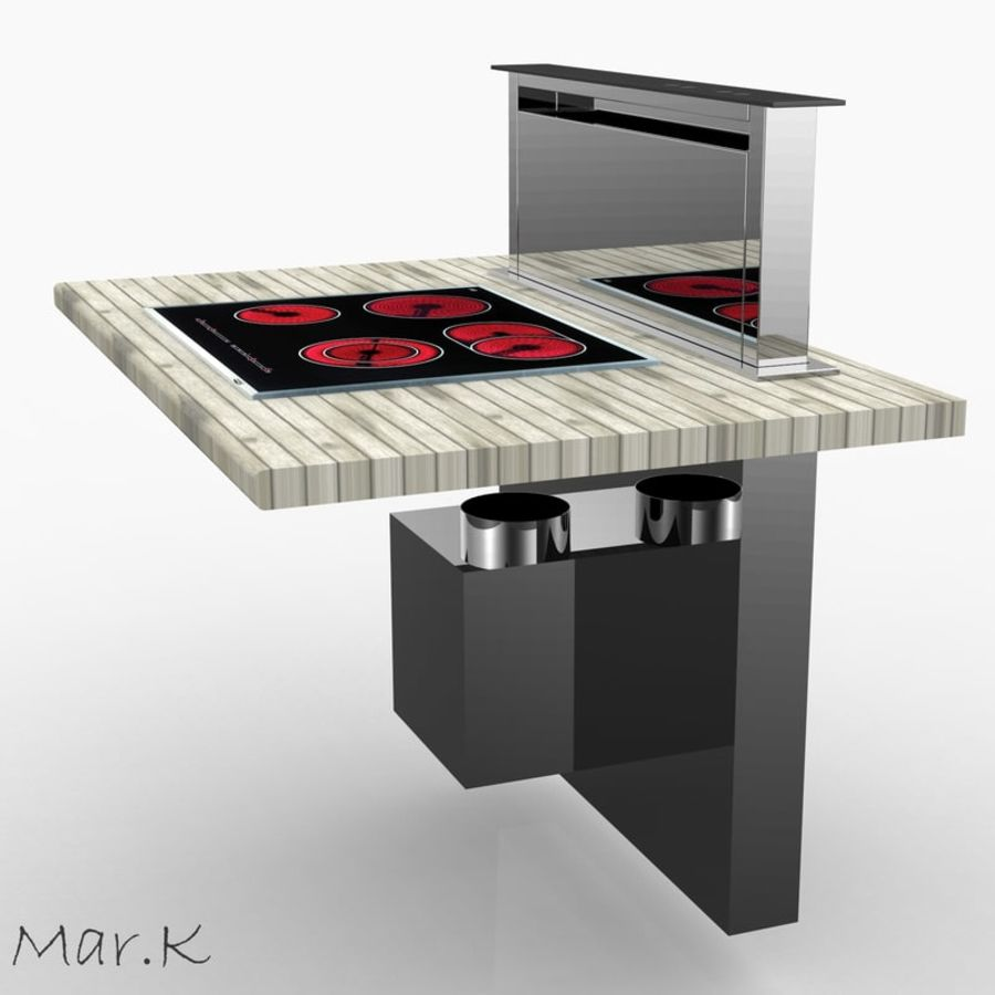 Kitchen hood DHD7000X royalty-free 3d model - Preview no. 1