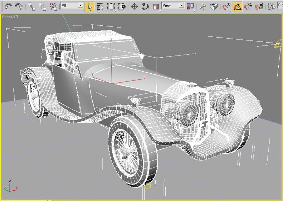 Старинный автомобиль royalty-free 3d model - Preview no. 4