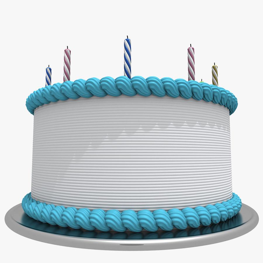 Torta Di Compleanno Alla Vaniglia Modello 3d 39 Lwo Max