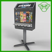 sticker machine 3d model
