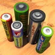 5x Batteries Hi-Res Model Pack 3d model