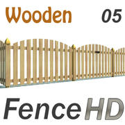 Fence Wooden with Gate 3d model