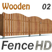 Fence Wooden HD 3d model