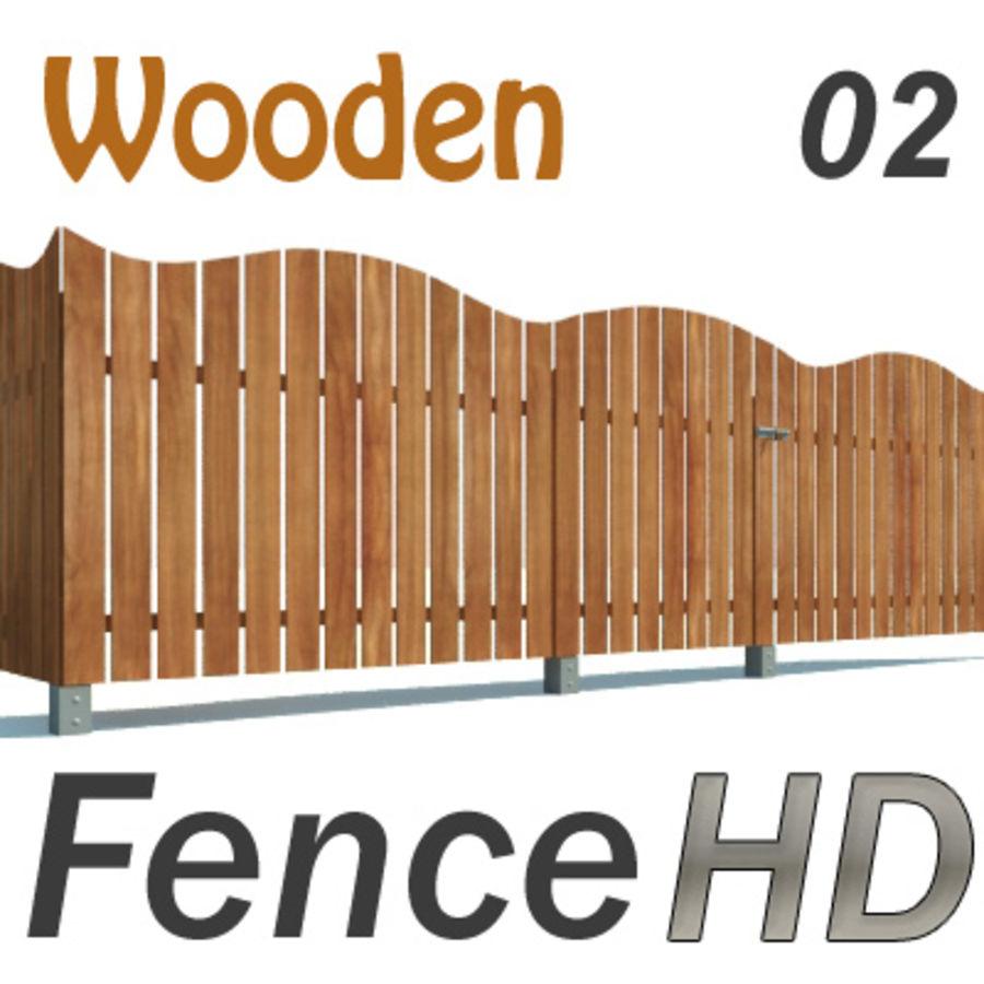Zaun aus Holz HD royalty-free 3d model - Preview no. 1