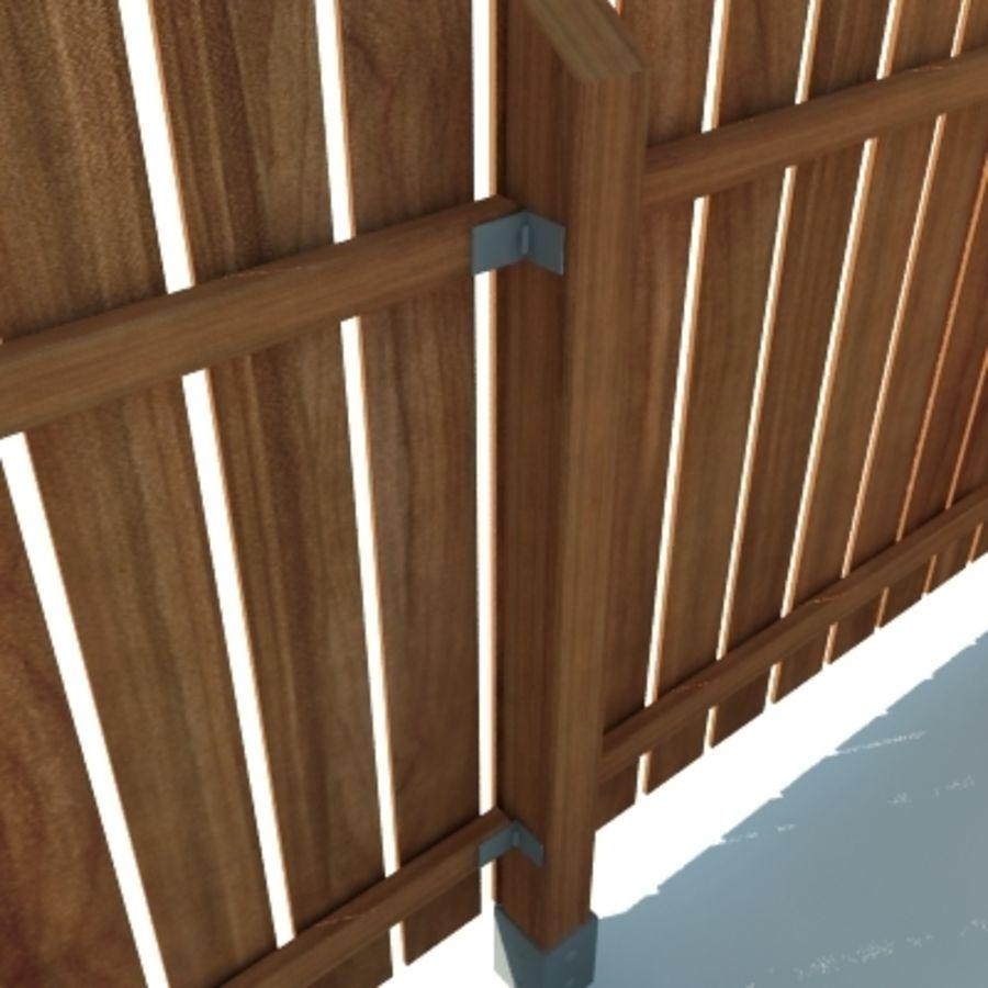 Zaun aus Holz HD royalty-free 3d model - Preview no. 2