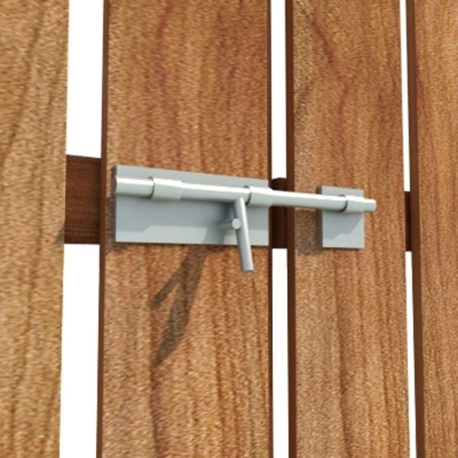 Zaun aus Holz HD royalty-free 3d model - Preview no. 3