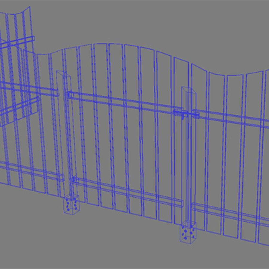 Zaun aus Holz HD royalty-free 3d model - Preview no. 5