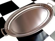 Liquor Tray 1 - 3D Steel Tray with Brushed Aluminum_1 material - created in 3ds max2010 3d model
