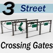 Street Crossing Gates 3d model
