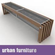 Bench A01 3d model