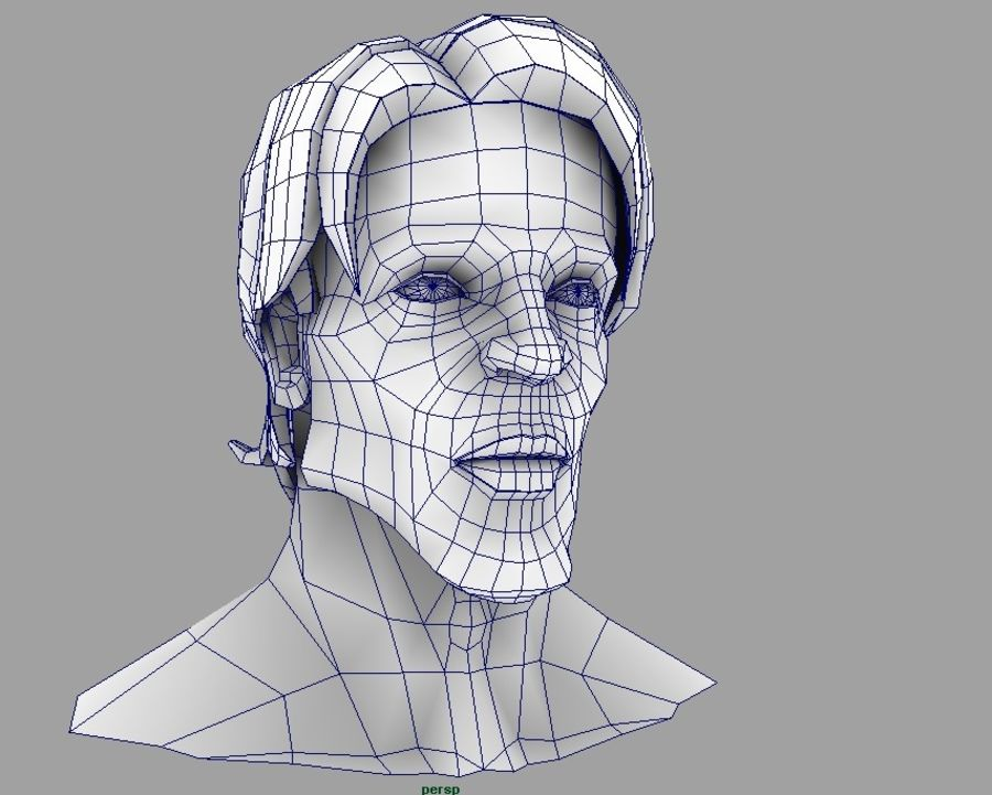face royalty-free 3d model - Preview no. 5