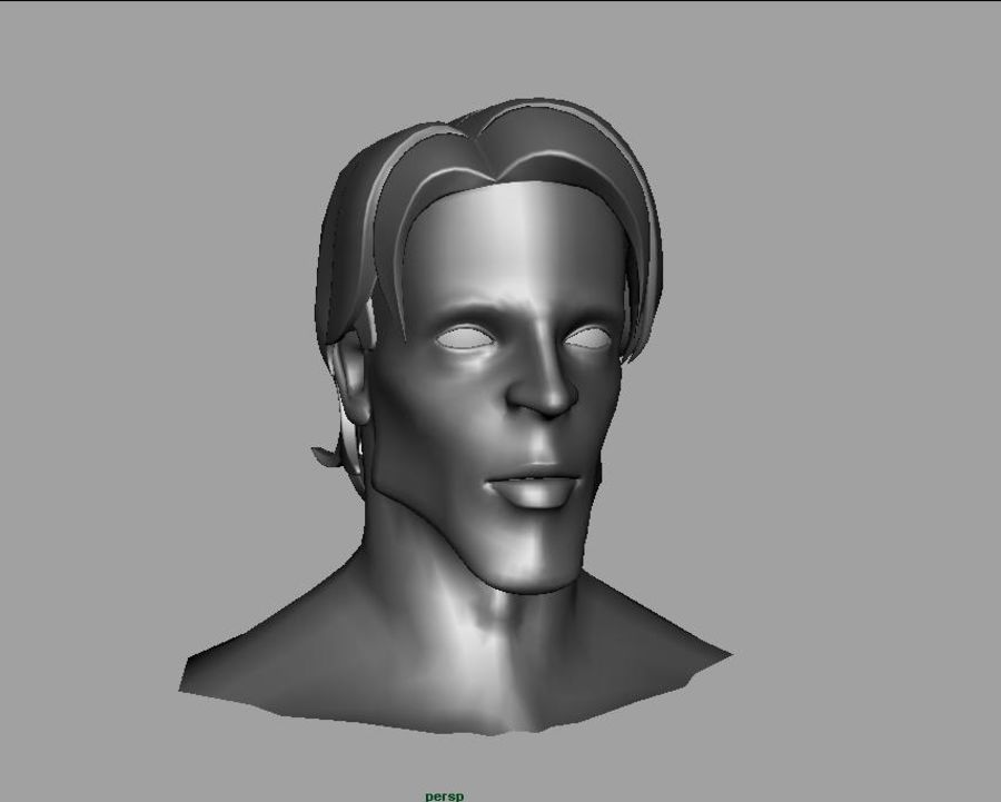 face royalty-free 3d model - Preview no. 1