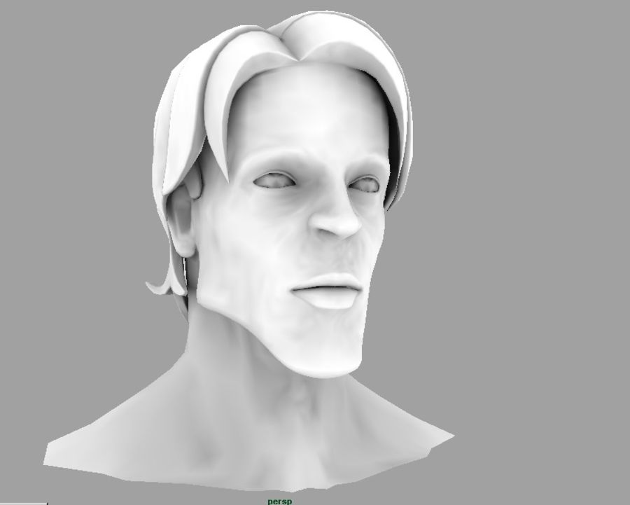 face royalty-free 3d model - Preview no. 3