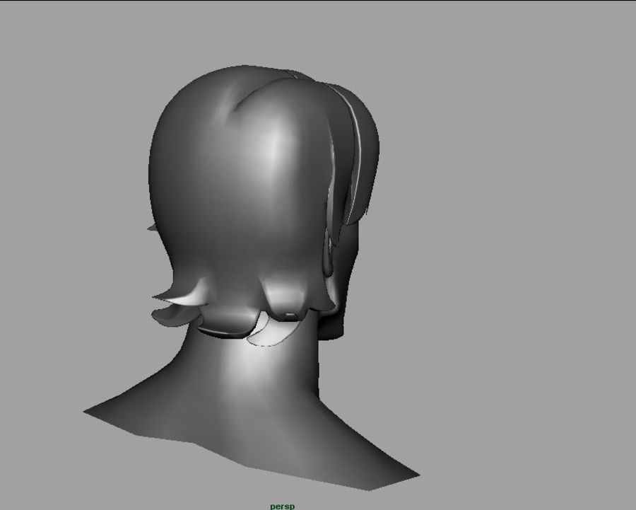 face royalty-free 3d model - Preview no. 2