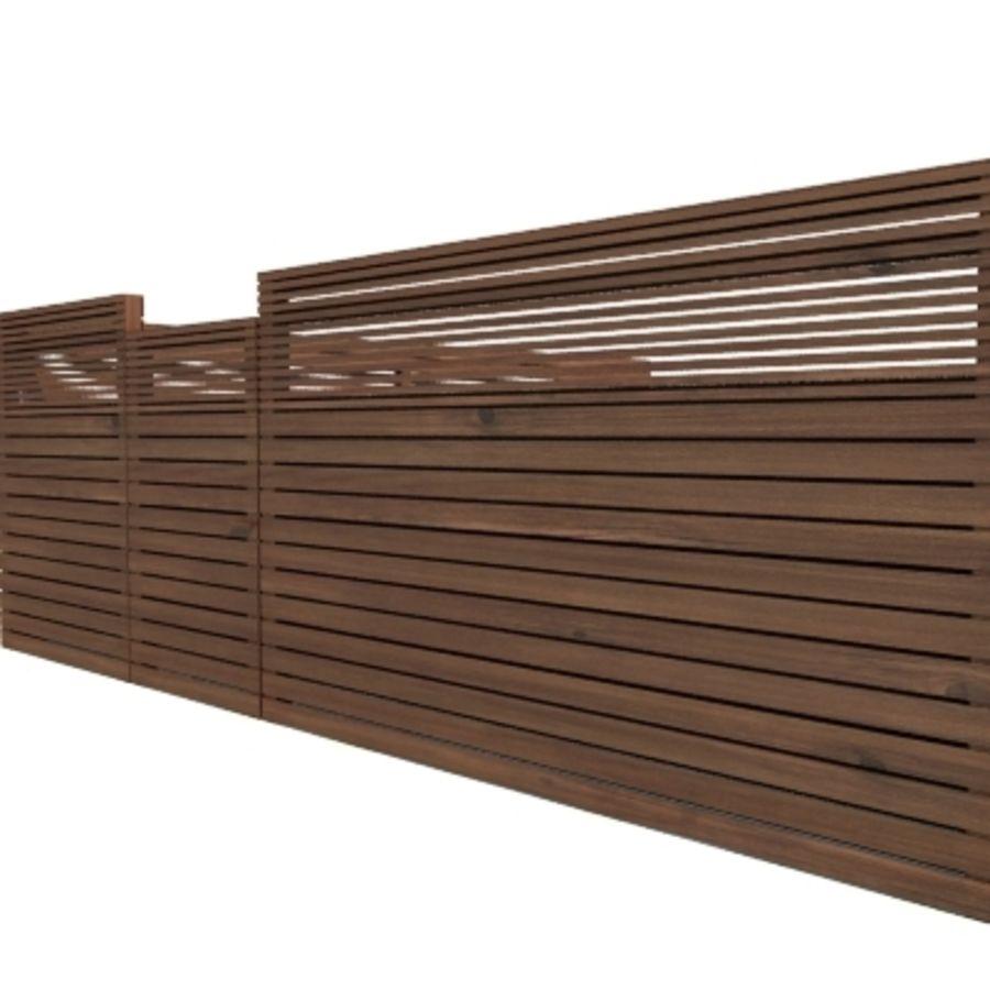Recinzione recinzione in legno royalty-free 3d model - Preview no. 2