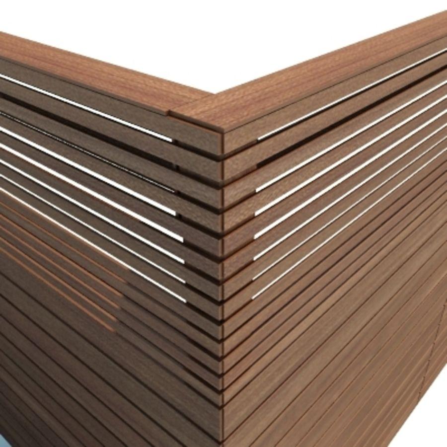 Ogrodzenia drewniane ogrodzenia royalty-free 3d model - Preview no. 5