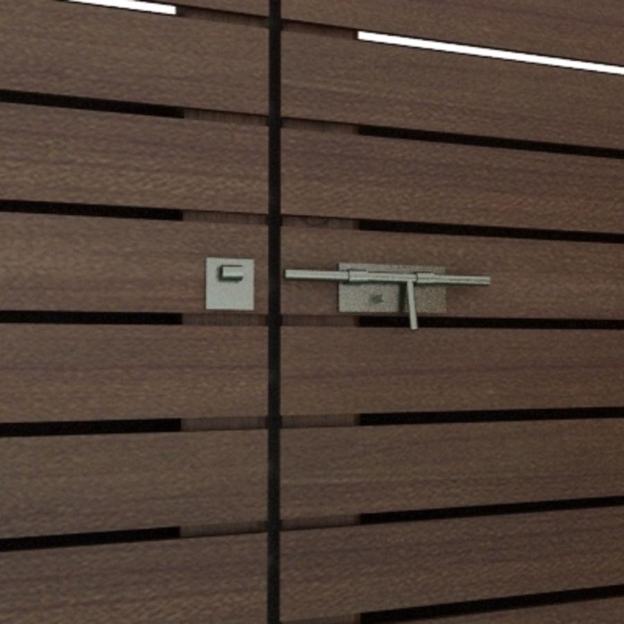 Recinzione recinzione in legno royalty-free 3d model - Preview no. 4