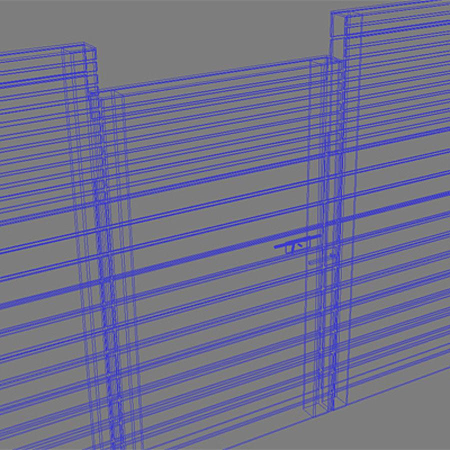 Recinzione recinzione in legno royalty-free 3d model - Preview no. 7