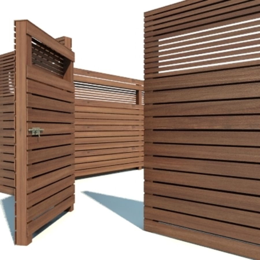 Recinzione recinzione in legno royalty-free 3d model - Preview no. 6