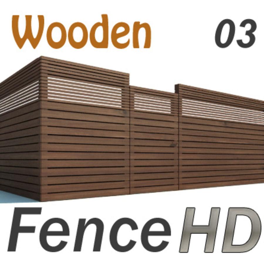 Recinzione recinzione in legno royalty-free 3d model - Preview no. 1