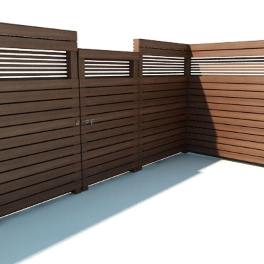 Ogrodzenia drewniane ogrodzenia royalty-free 3d model - Preview no. 3