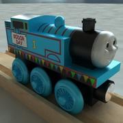 きかんしゃトーマスソーダの日木の鉄道玩具列車 3d model