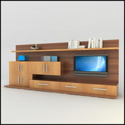 TV / Wall Unit Modern Design X_13 Entertainment Center Scene 3d model