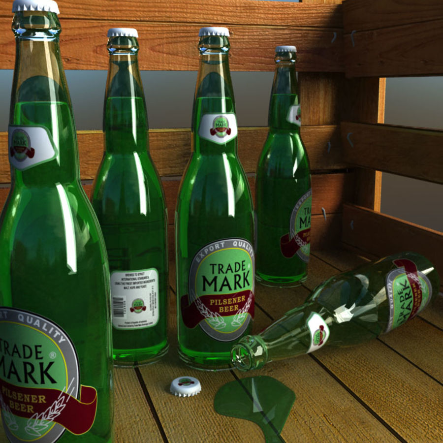 Bottle royalty-free 3d model - Preview no. 1