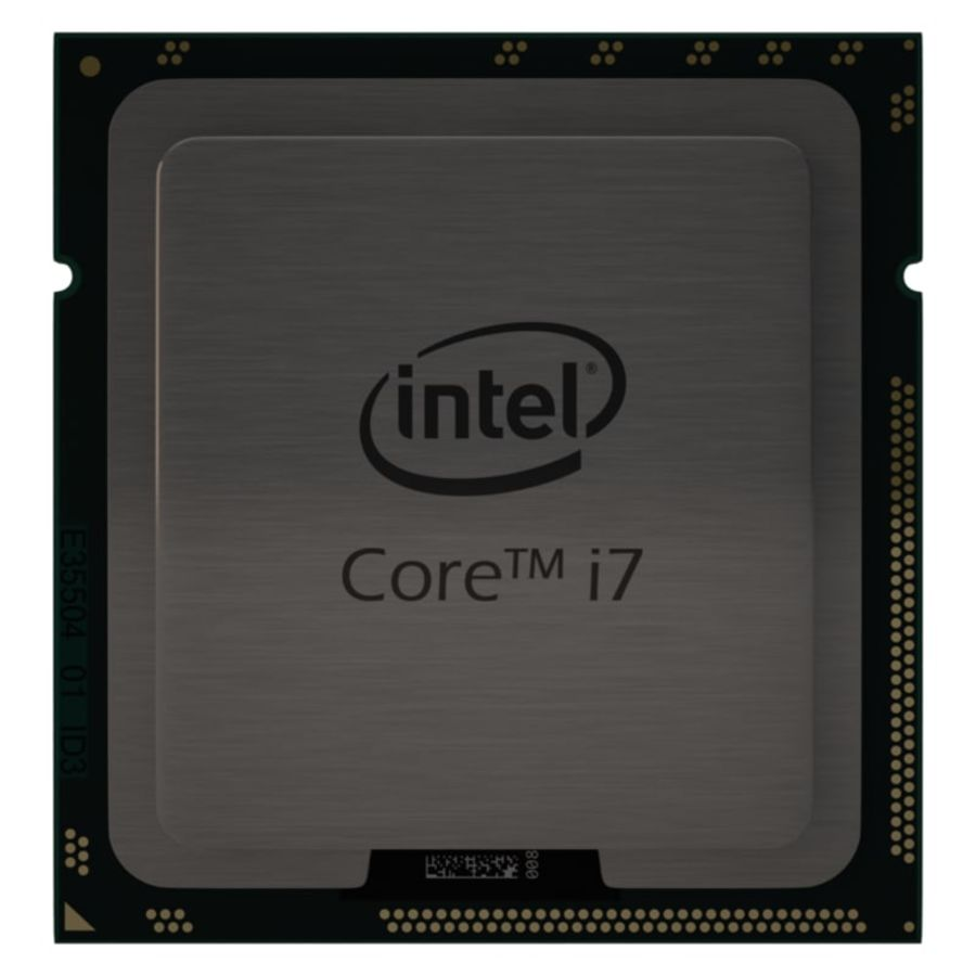 CPU i7 royalty-free 3d model - Preview no. 1