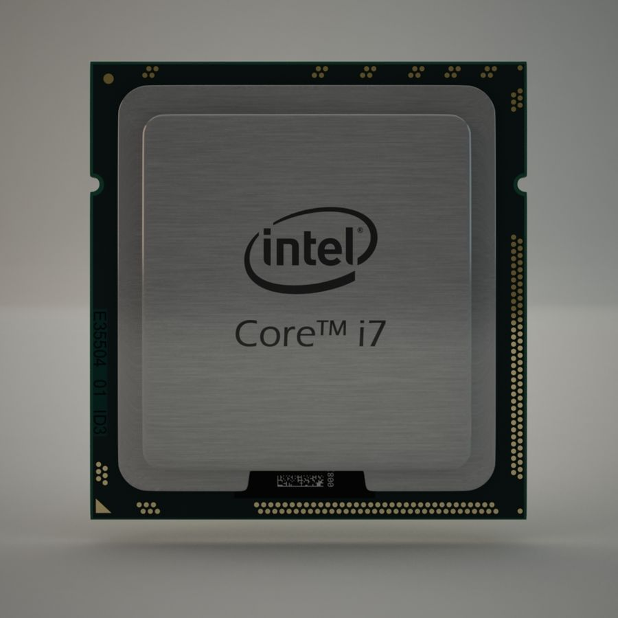 CPU i7 royalty-free 3d model - Preview no. 2