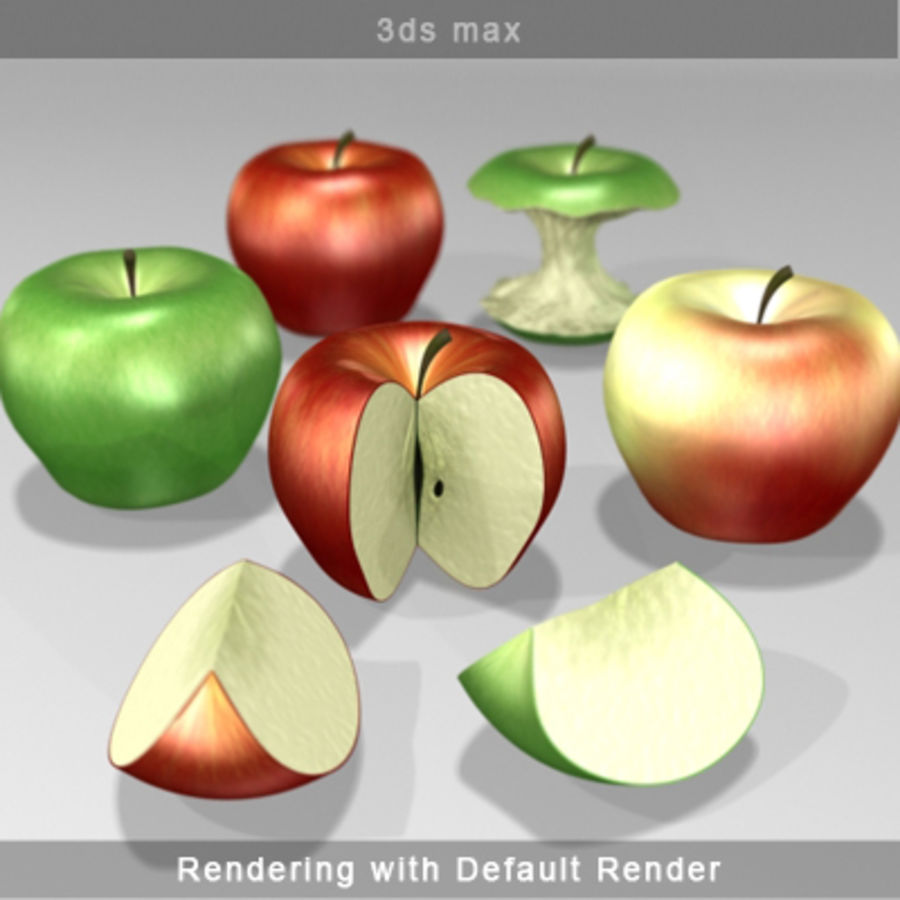 apple royalty-free 3d model - Preview no. 8