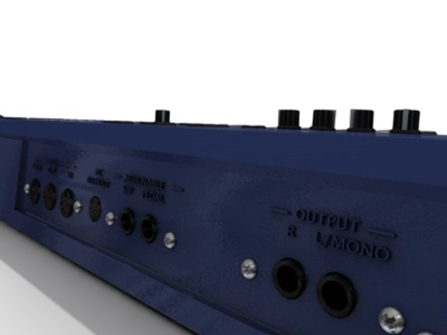 korg_n5_synthesizer.c4d royalty-free 3d model - Preview no. 4