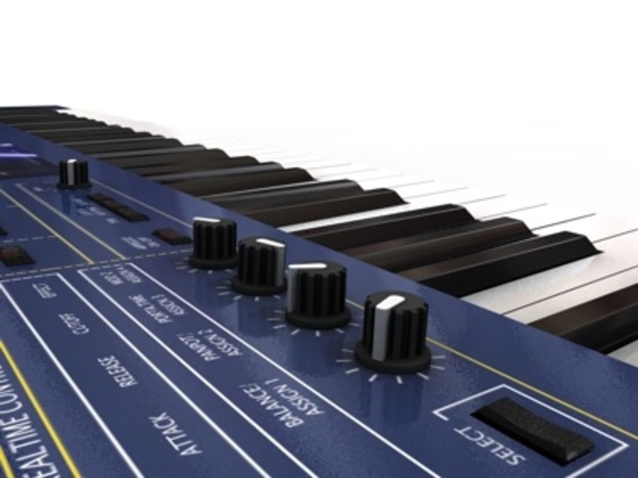 korg_n5_synthesizer.c4d royalty-free 3d model - Preview no. 2