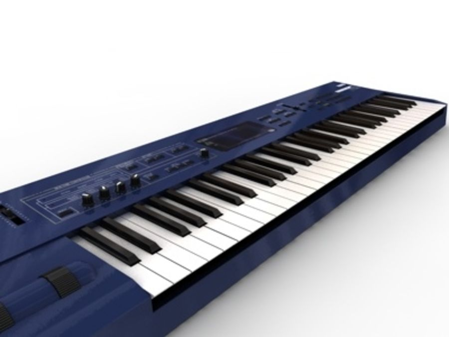 korg_n5_synthesizer.c4d royalty-free 3d model - Preview no. 1