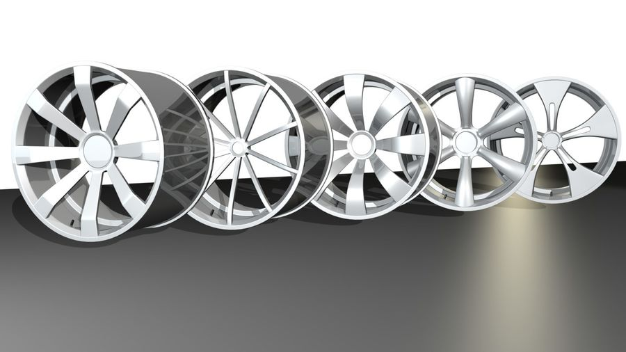 concept rim collection royalty-free 3d model - Preview no. 1