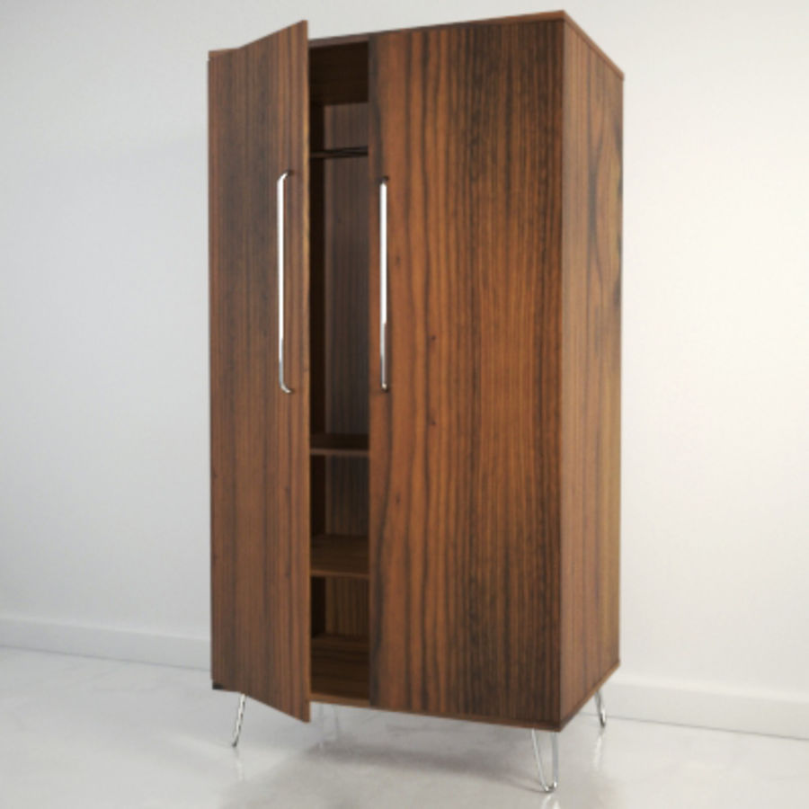 Midcentury Wardrobe royalty-free 3d model - Preview no. 1