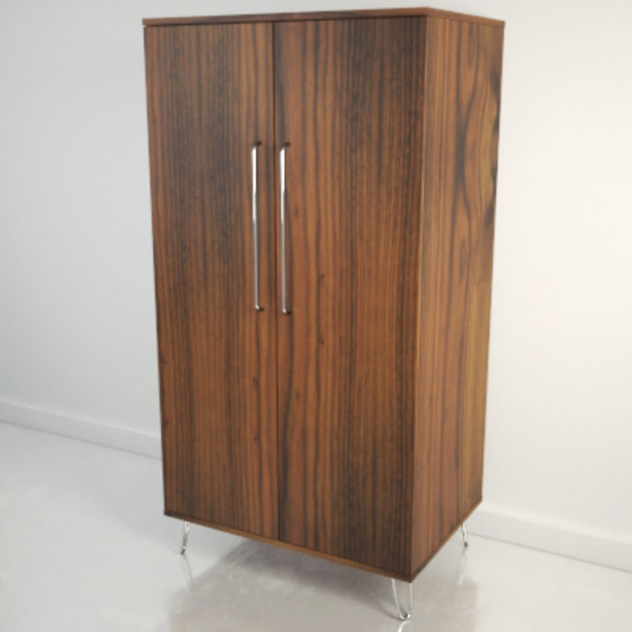 Midcentury Wardrobe royalty-free 3d model - Preview no. 2