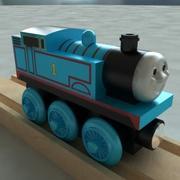 托马斯坦克引擎木铁路玩具火车 3d model