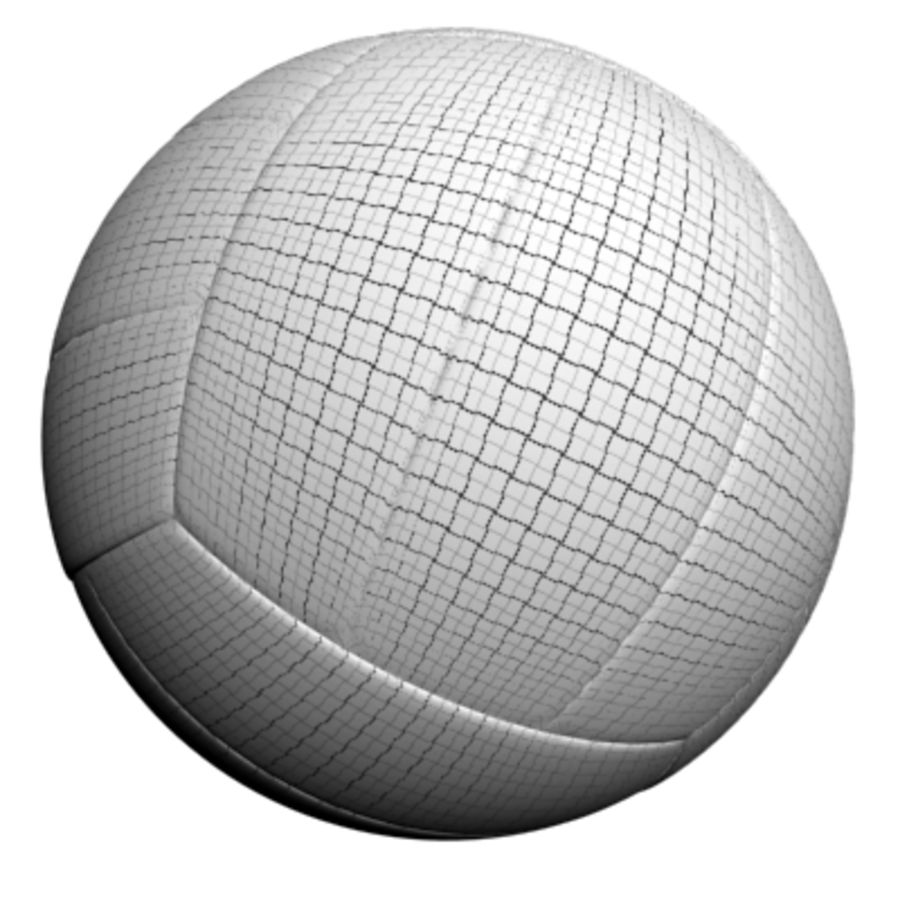 volleyball - textured royalty-free 3d model - Preview no. 2