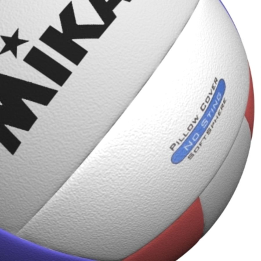 volleyball - textured royalty-free 3d model - Preview no. 6