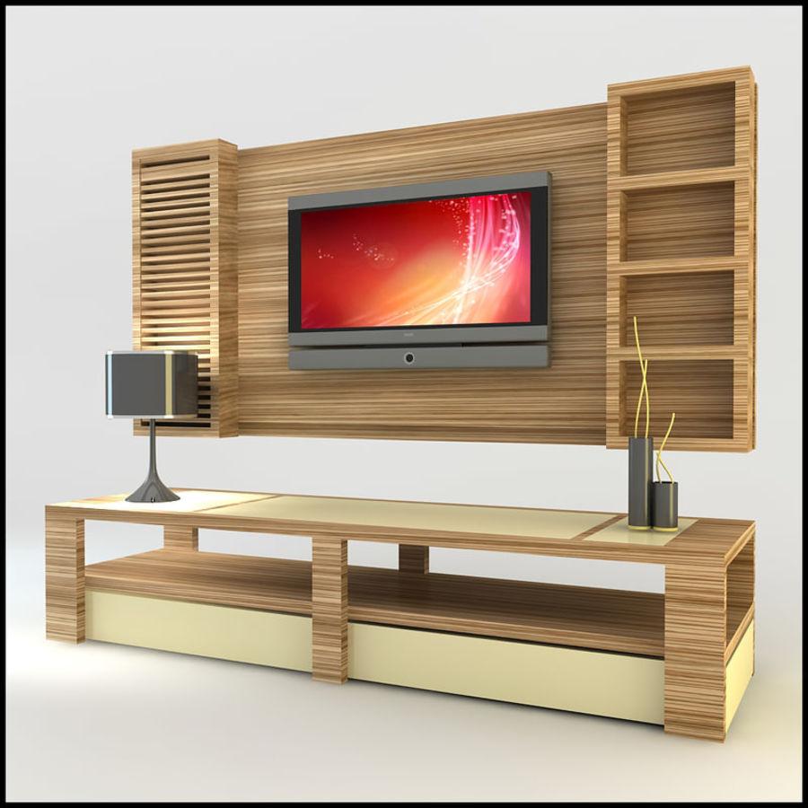 tv wall unit modern design x 14 3d model 25 obj dwg. Black Bedroom Furniture Sets. Home Design Ideas