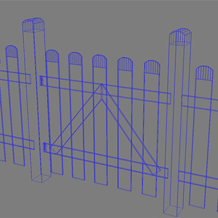 Zaun - Holz Hallo Res royalty-free 3d model - Preview no. 5